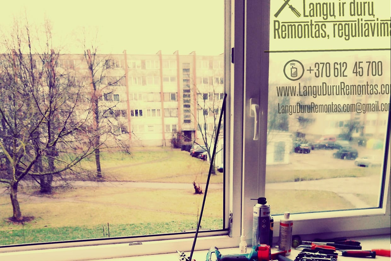 Plastikinių langų remontas Klaipėdoje ir jos apskrityje